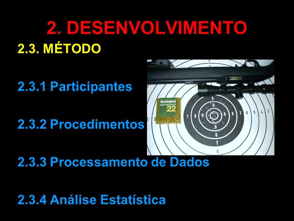 2. DESENVOLVIMENTO 2.3. MÉTODO 2.3.1 Participantes 2.3.2 Procedimentos 2.3.3 Processamento de Dados 2.3.4 Análise Estatística