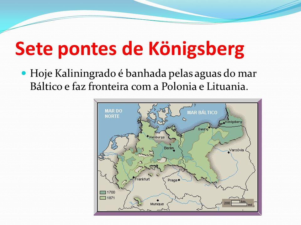 Sete pontes de Königsberg Hoje Kaliningrado é banhada pelas aguas do mar Báltico e faz fronteira com a Polonia e Lituania.