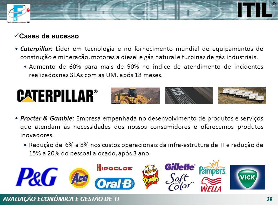 AVALIAÇÃO ECONÔMICA E GESTÃO DE TI 28 Cases de sucesso Caterpillar: Líder em tecnologia e no fornecimento mundial de equipamentos de construção e mine