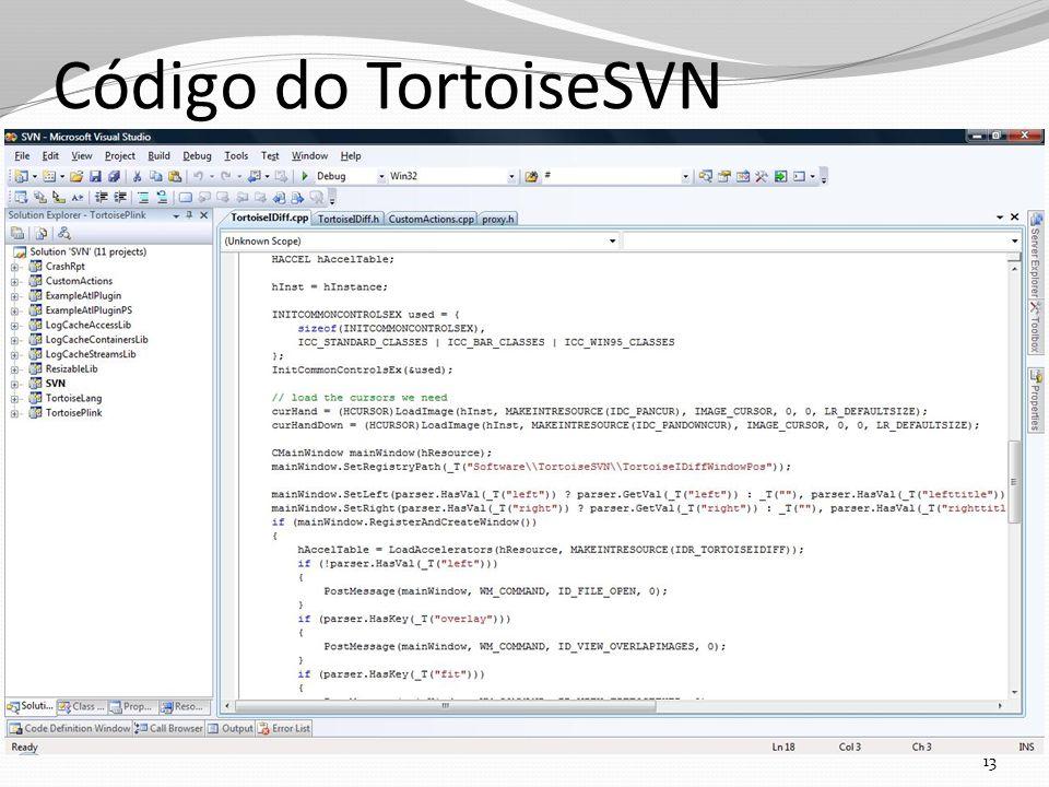 Código do TortoiseSVN 13
