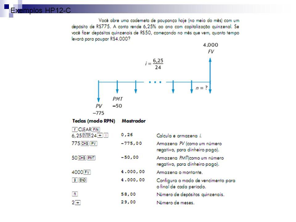 Exemplos HP12-C