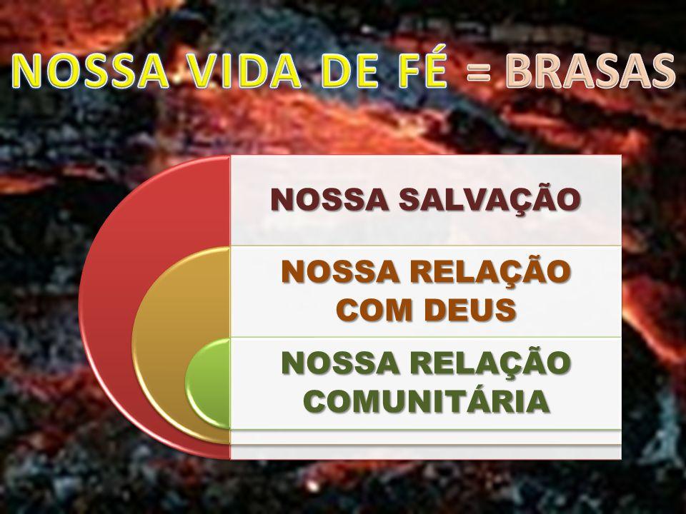 NOSSA SALVAÇÃO NOSSA RELAÇÃO COM DEUS NOSSA RELAÇÃO COMUNITÁRIA
