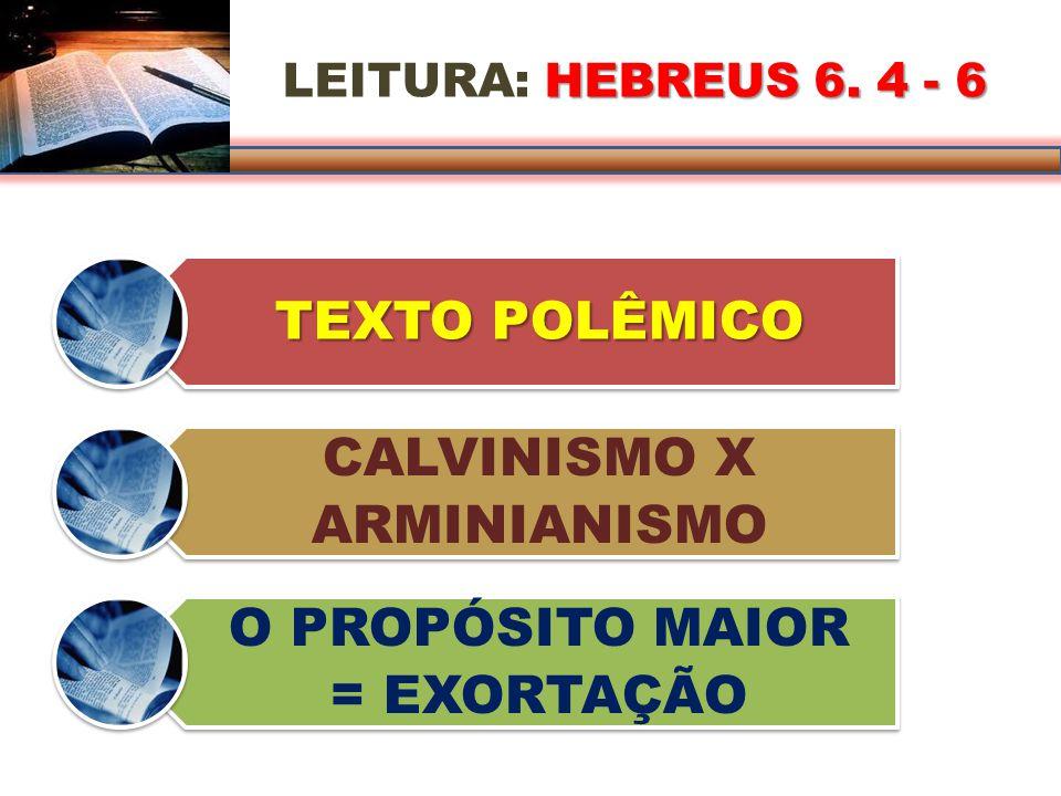 LEITURA: H HH HEBREUS 6.