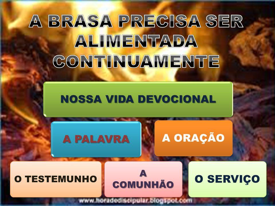 NOSSA VIDA DEVOCIONAL A PALAVRA O TESTEMUNHO A COMUNHÃO A ORAÇÃOO SERVIÇO