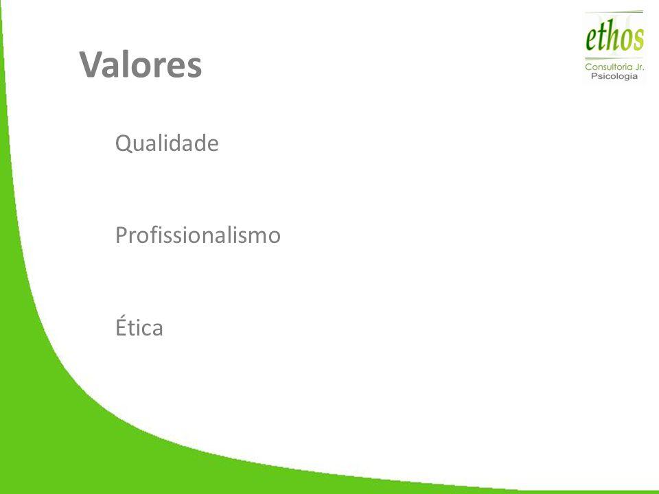 Valores Qualidade Profissionalismo Ética