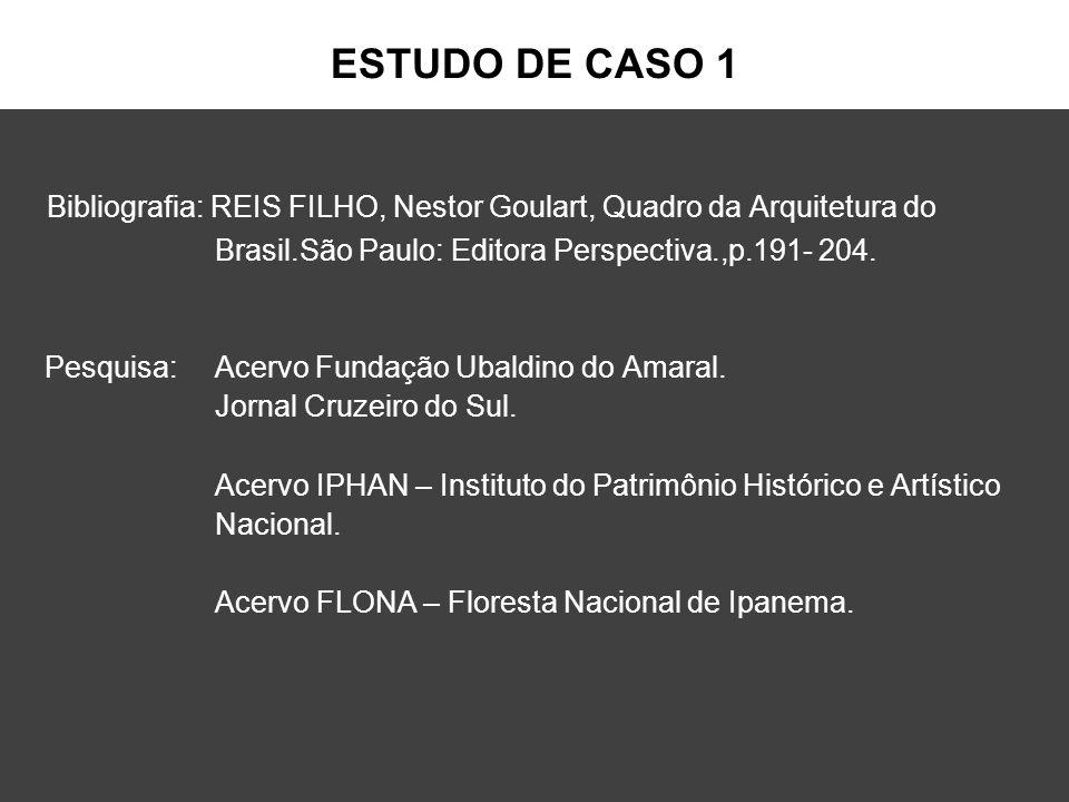 ESTUDO DE CASO 1 Bibliografia: REIS FILHO, Nestor Goulart, Quadro da Arquitetura do Brasil.São Paulo: Editora Perspectiva.,p.191- 204. Pesquisa: Acerv