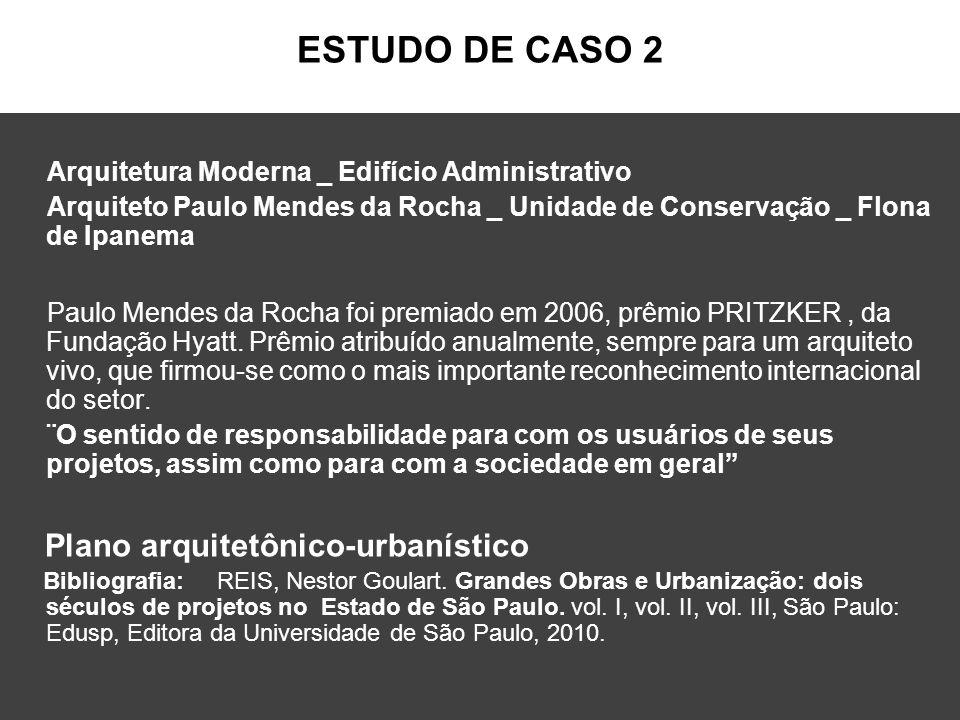ESTUDO DE CASO 2 Arquitetura Moderna _ Edifício Administrativo Arquiteto Paulo Mendes da Rocha _ Unidade de Conservação _ Flona de Ipanema Paulo Mende