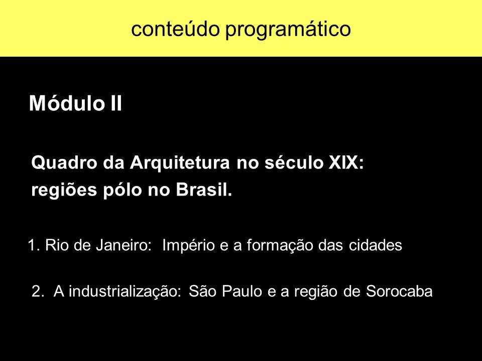 Módulo III Arquitetura Moderna: principais correntes do pensamento arquitetônico do século XX, suas origens históricas e reflexos no Brasil.