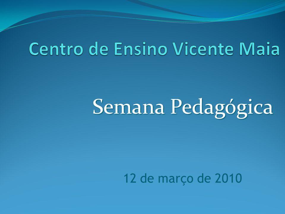 Semana Pedagógica 12 de março de 2010