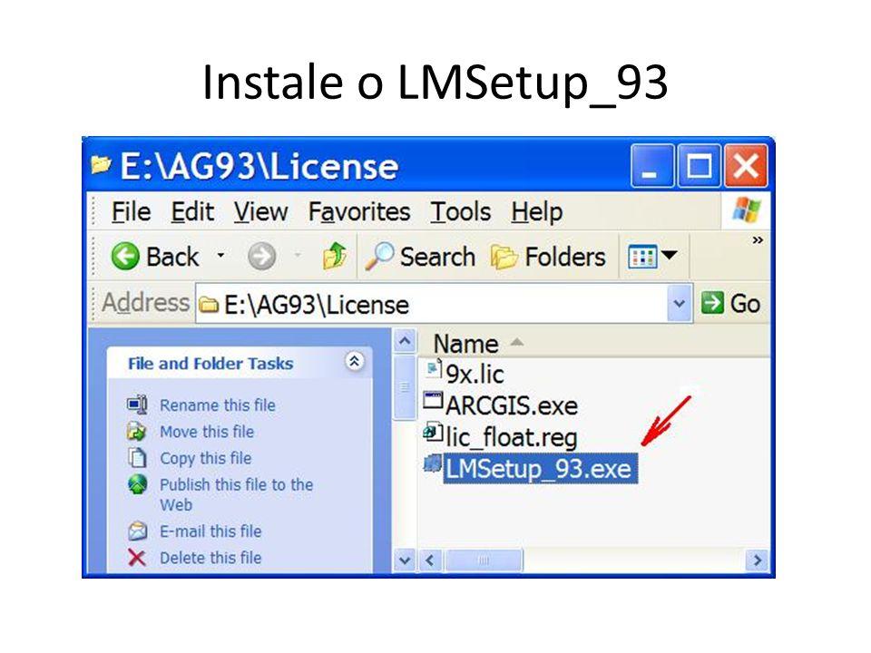 Instale o LMSetup_93