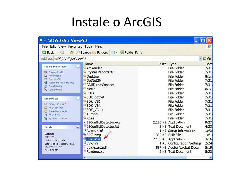 Instale o ArcGIS