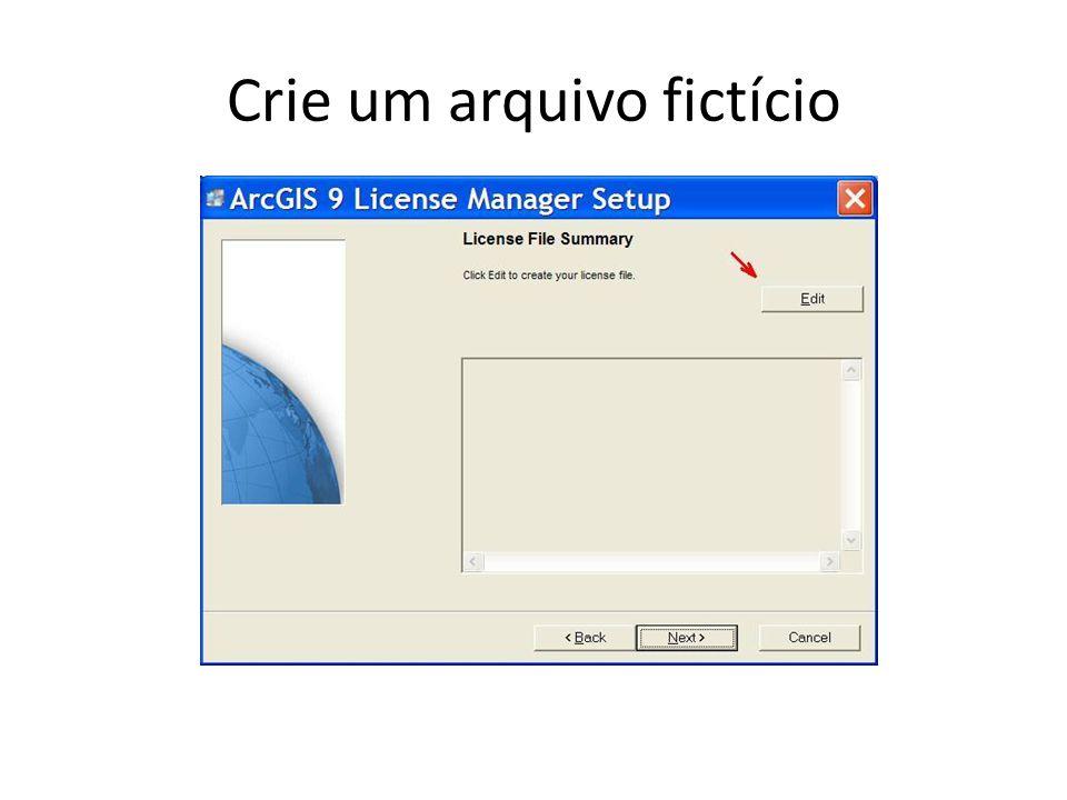 Crie um arquivo fictício
