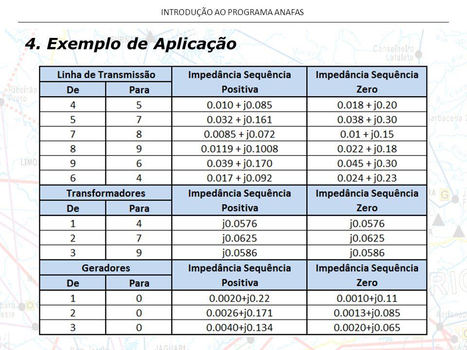 4. Exemplo de Aplicação INTRODUÇÃO AO PROGRAMA ANAFAS
