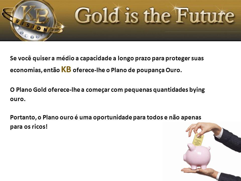 Se você quiser a médio a capacidade a longo prazo para proteger suas economias, então KB oferece-lhe o Plano de poupança Ouro.