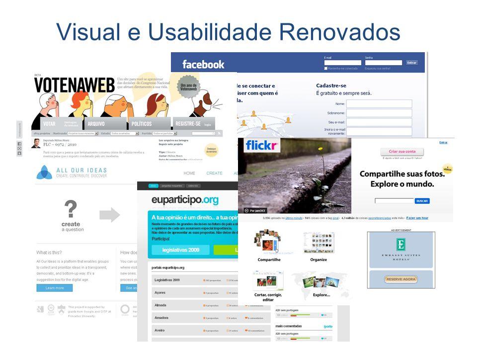Visual e Usabilidade Renovados