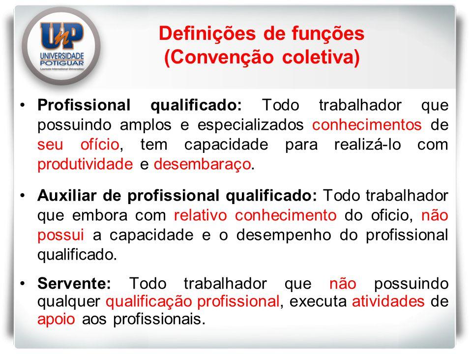 Profissional qualificado: Todo trabalhador que possuindo amplos e especializados conhecimentos de seu ofício, tem capacidade para realizá-lo com produtividade e desembaraço.
