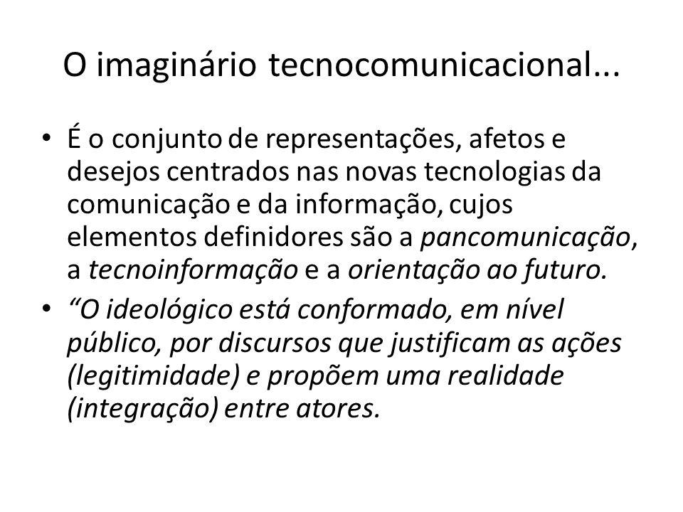 O imaginário tecnocomunicacional...