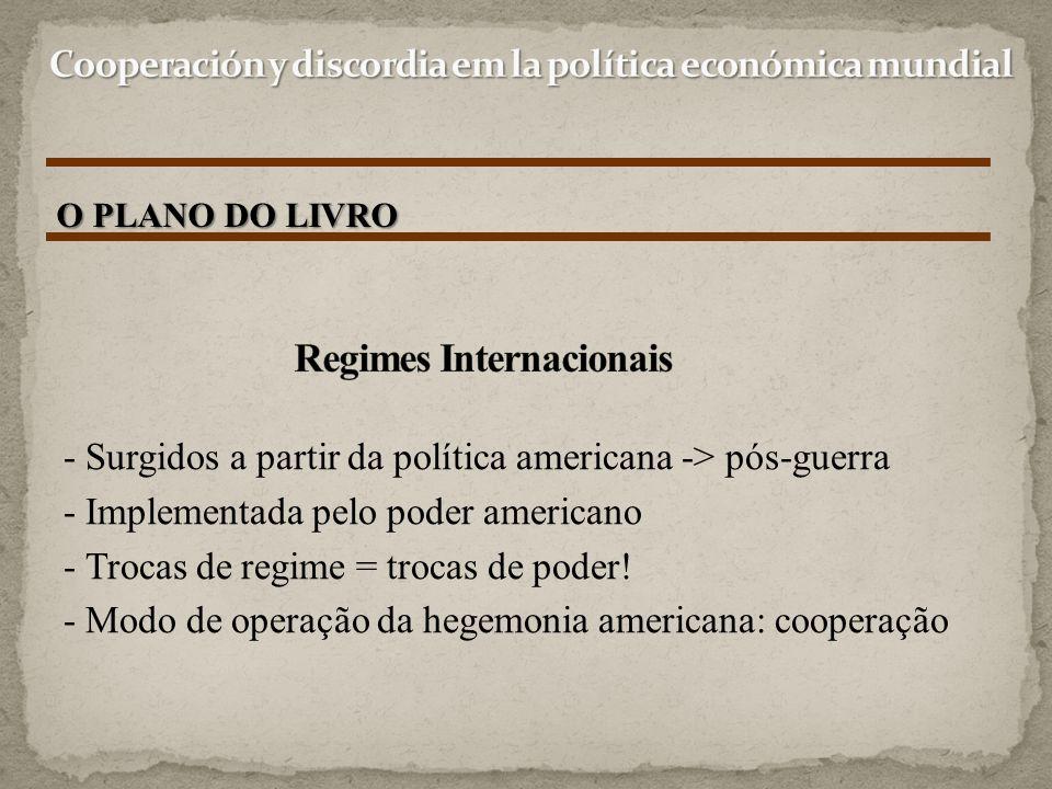- Surgidos a partir da política americana -> pós-guerra - Implementada pelo poder americano - Trocas de regime = trocas de poder! - Modo de operação d