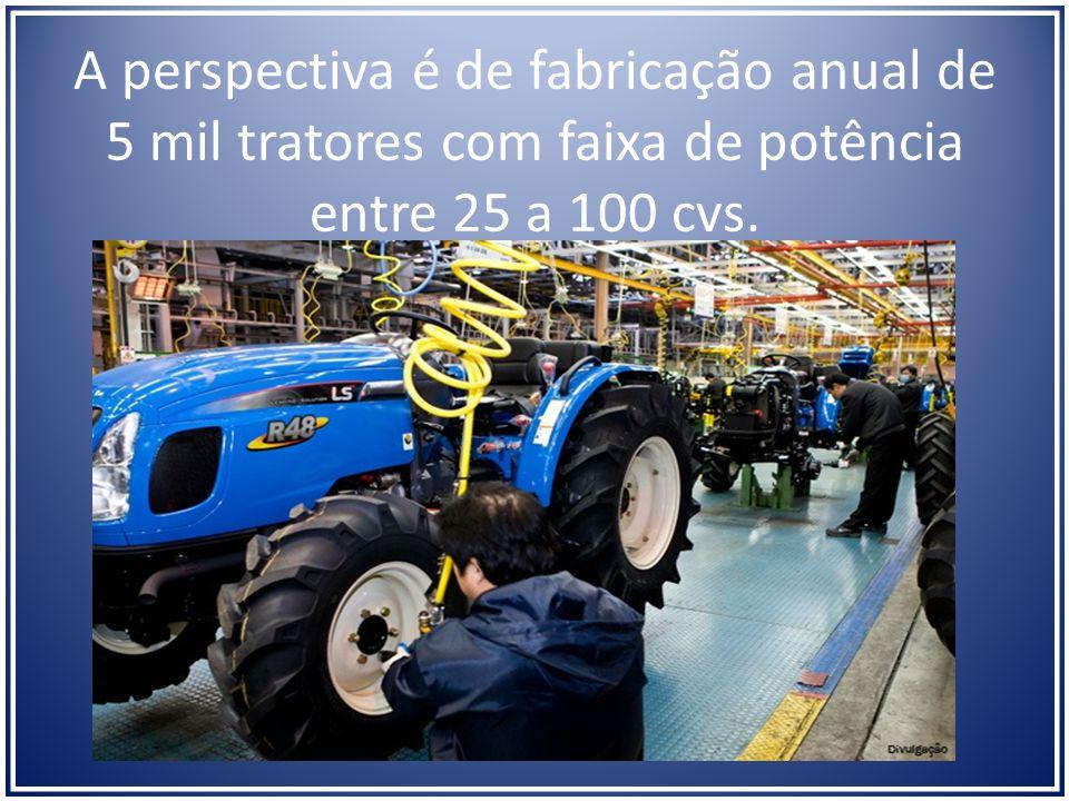 A perspectiva é de fabricação anual de 5 mil tratores com faixa de potência entre 25 a 100 cvs.