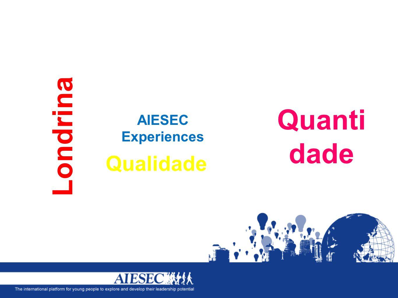 AIESEC Experiences Londrina Quanti dade Qualidade