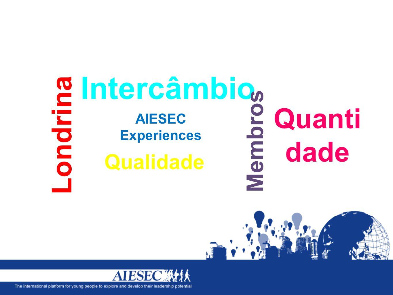 Intercâmbio AIESEC Experiences Membros Londrina Quanti dade Qualidade