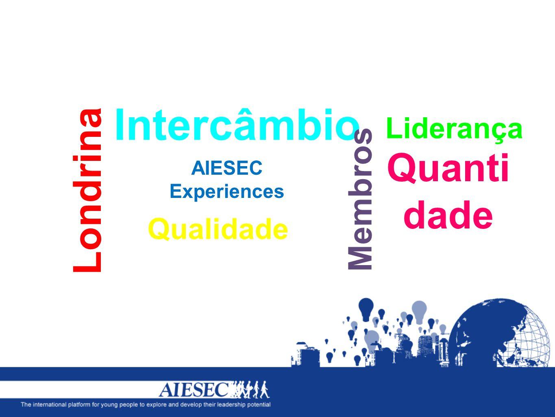 Intercâmbio AIESEC Experiences Membros Londrina Liderança Quanti dade Qualidade