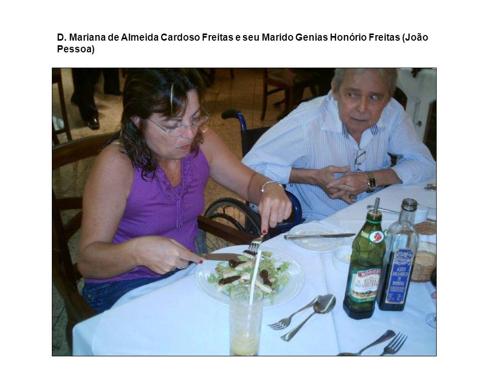 Sr. Genias Honório de Freitas e D. Mariana de Almeida Cardoso Freitas – João Pessoa - PB
