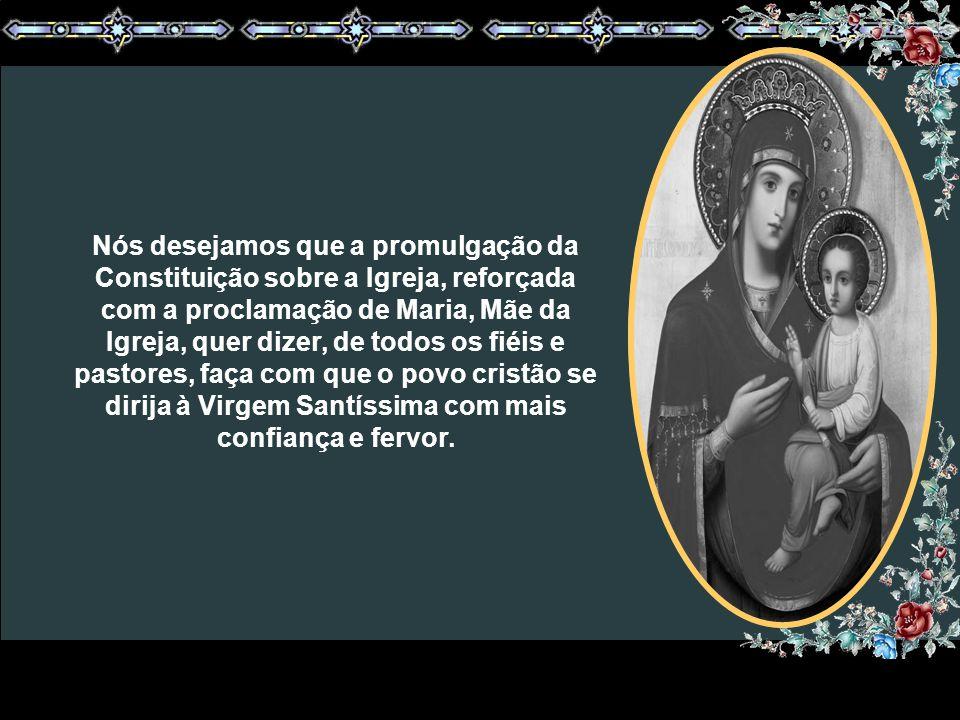 Esta maternidade constitui o fundamento, a base principal da relação entre Maria e a Igreja, pois ela é a Mãe d´Aquele que, desde o primeiro momento d