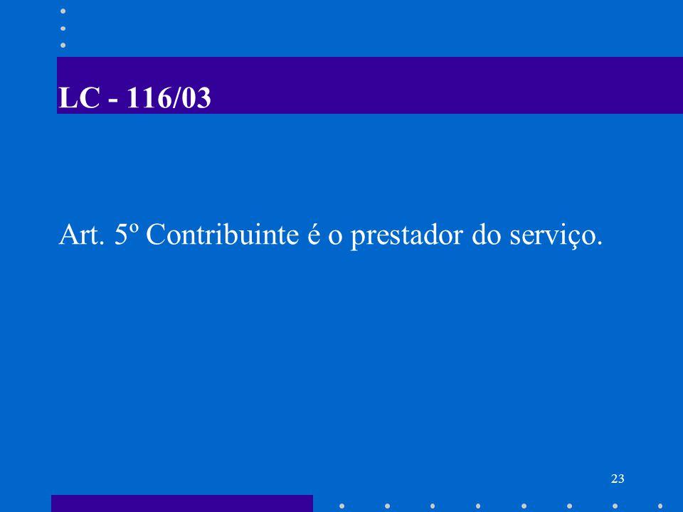 24 SUBSTITUIÇÃO TRIBUTÁRIA DO ISS Os municípios poderão atribuir de modo expresso a responsabilidade pelo recolhimento do ISS a terceira pessoa, vinculada ao fato gerador da respectiva obrigação.