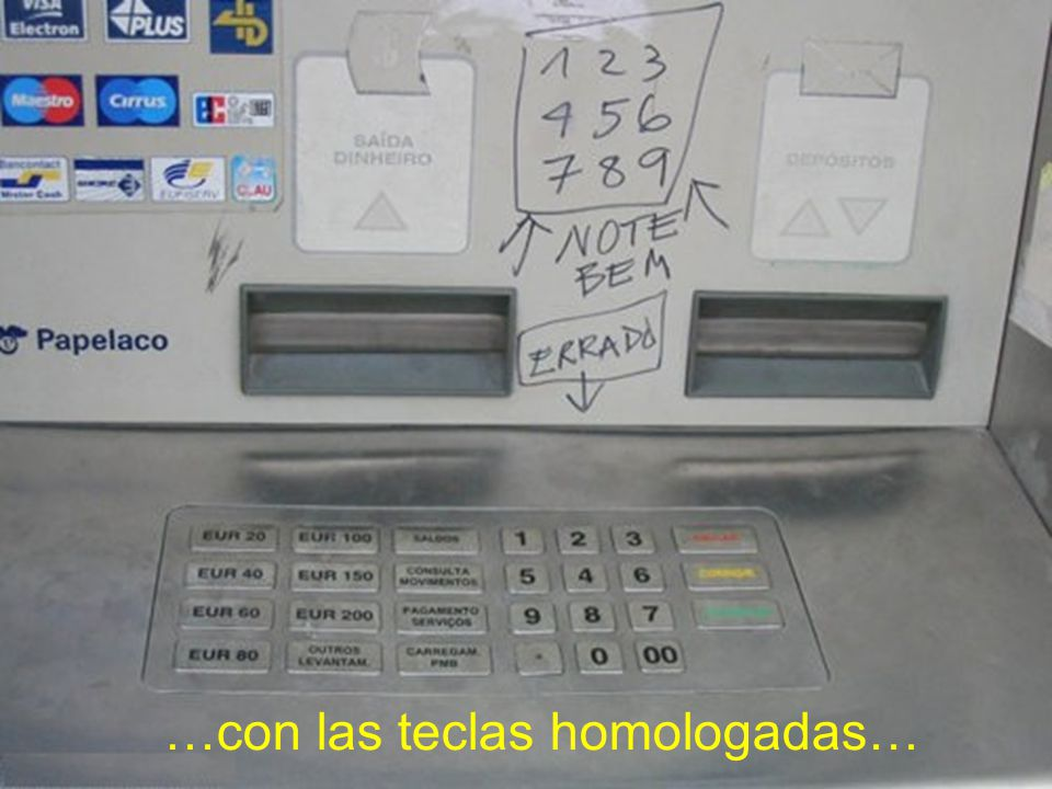 Un cajero automático…