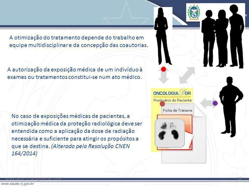 sexta-feira, 22 de agosto de 2014 18 A otimização do tratamento depende do trabalho em equipe multidisciplinar e da concepção das coautorias. A autori