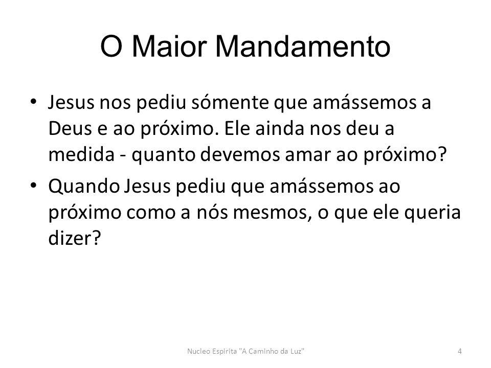 O Maior Mandamento Jesus nos pediu sómente que amássemos a Deus e ao próximo.