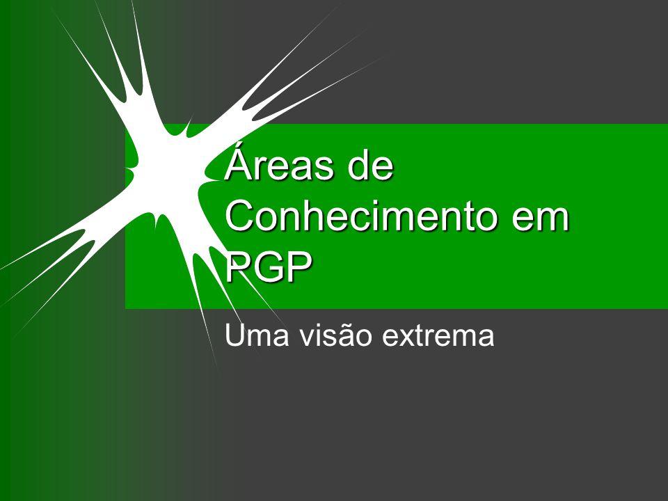 Áreas de Conhecimento em PGP Uma visão extrema