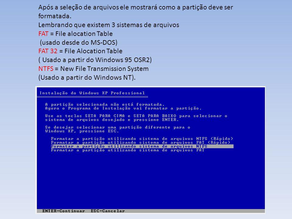 Após a reinicialização do computador ele pedirá para corrigir a resolução do PC o XP termina a sua configuração e normalmente para 800x600.