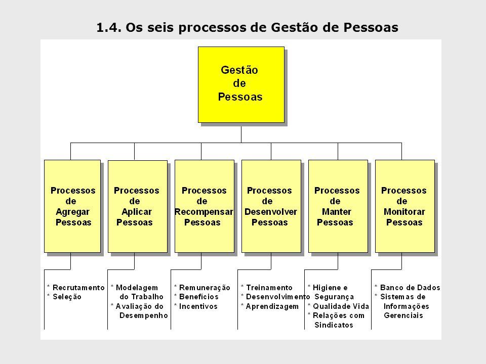 1.4. Os seis processos de Gestão de Pessoas