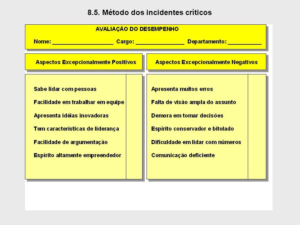 8.5. Método dos incidentes críticos