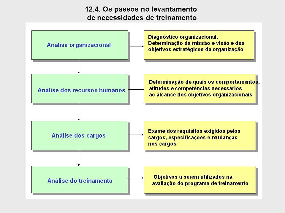 12.4. Os passos no levantamento de necessidades de treinamento