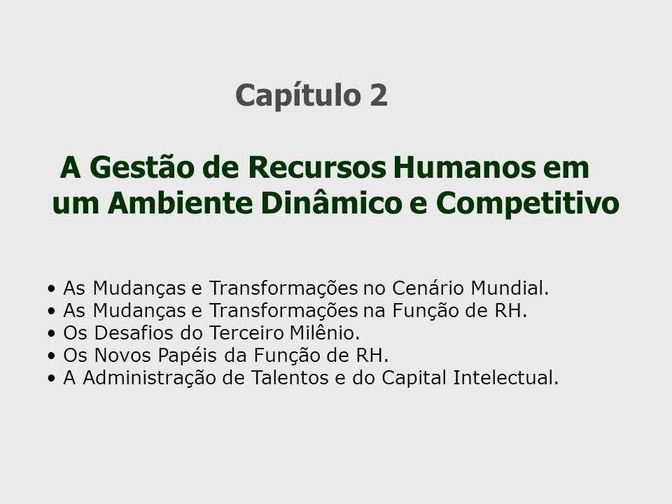 Capítulo 2 A Gestão de Recursos Humanos em um Ambiente Dinâmico e Competitivo As Mudanças e Transformações no Cenário Mundial. As Mudanças e Transform
