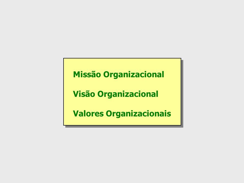 Missão Organizacional Visão Organizacional Valores Organizacionais Missão Organizacional Visão Organizacional Valores Organizacionais