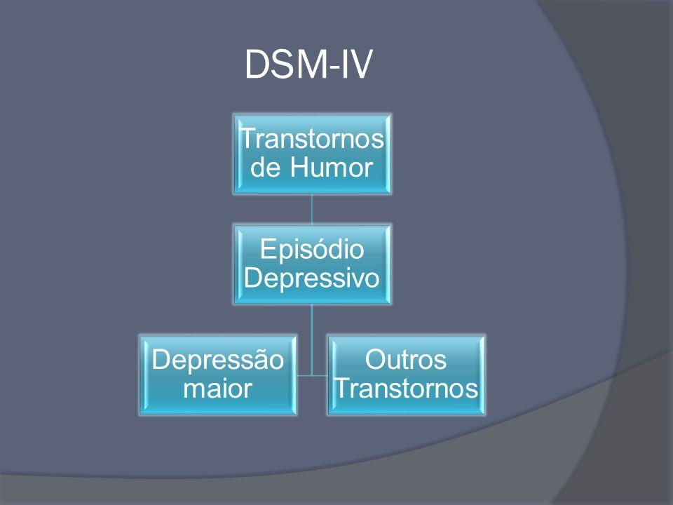 DSM-IV Transtornos de Humor Episódio Depressivo Depressão maior Outros Transtornos