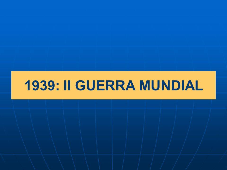 1939: II GUERRA MUNDIAL