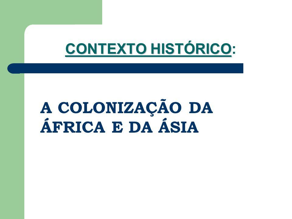 CONTEXTO HISTÓRICO CONTEXTO HISTÓRICO: A COLONIZAÇÃO DA ÁFRICA E DA ÁSIA