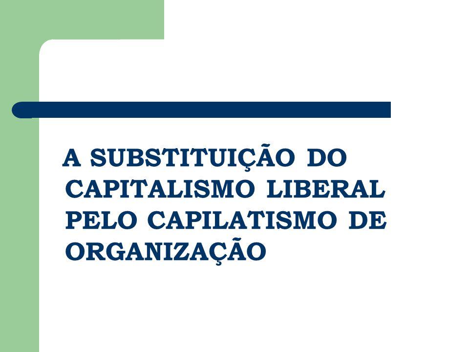 A SUBSTITUIÇÃO DO CAPITALISMO LIBERAL PELO CAPILATISMO DE ORGANIZAÇÃO
