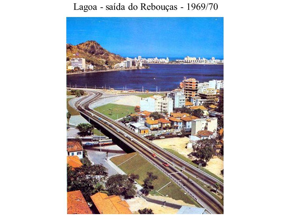 Lagoa - saída do Rebouças - 1969/70