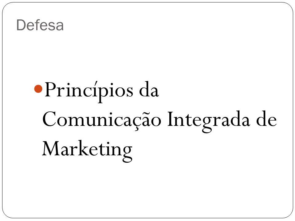 Princípios da Comunicação Integrada de Marketing Defesa