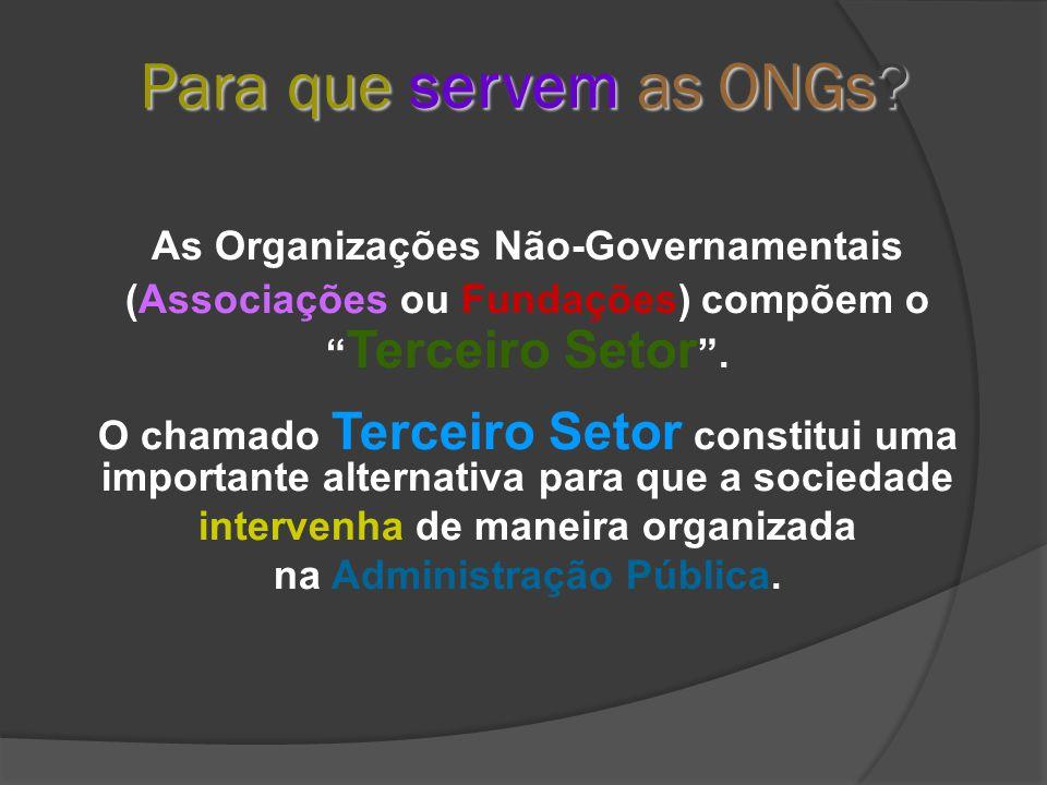 Para que servem as ONGs.