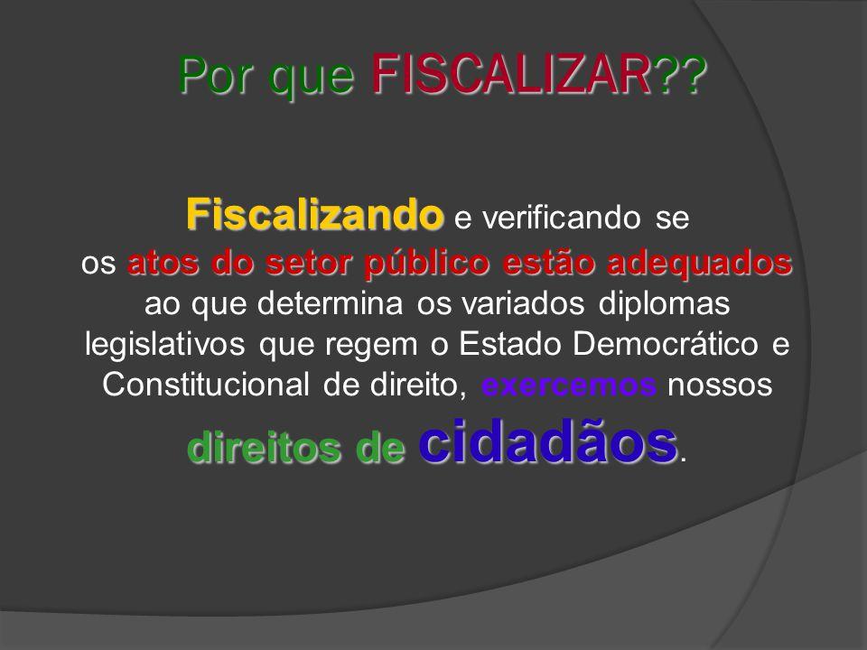 Por que FISCALIZAR?.