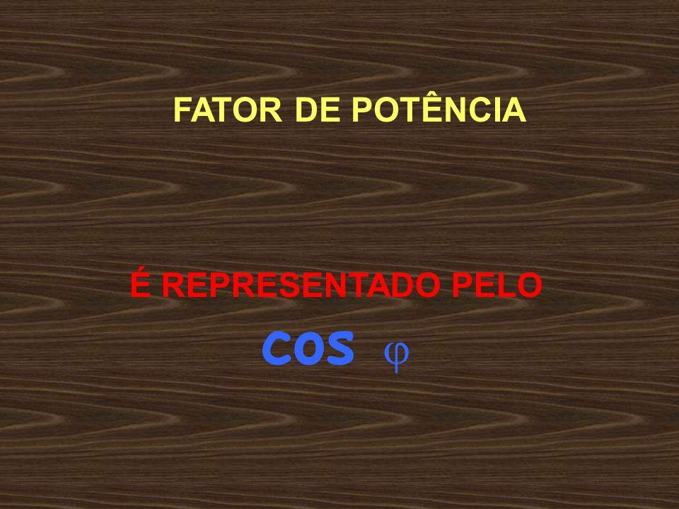 FATOR DE POTÊNCIA REPRESENTA O QUANTO DA POTÊNCIA TOTAL É TRANSFORMADA EM TRABALHO FP MÍNIMO = 0,92 OU 92 %