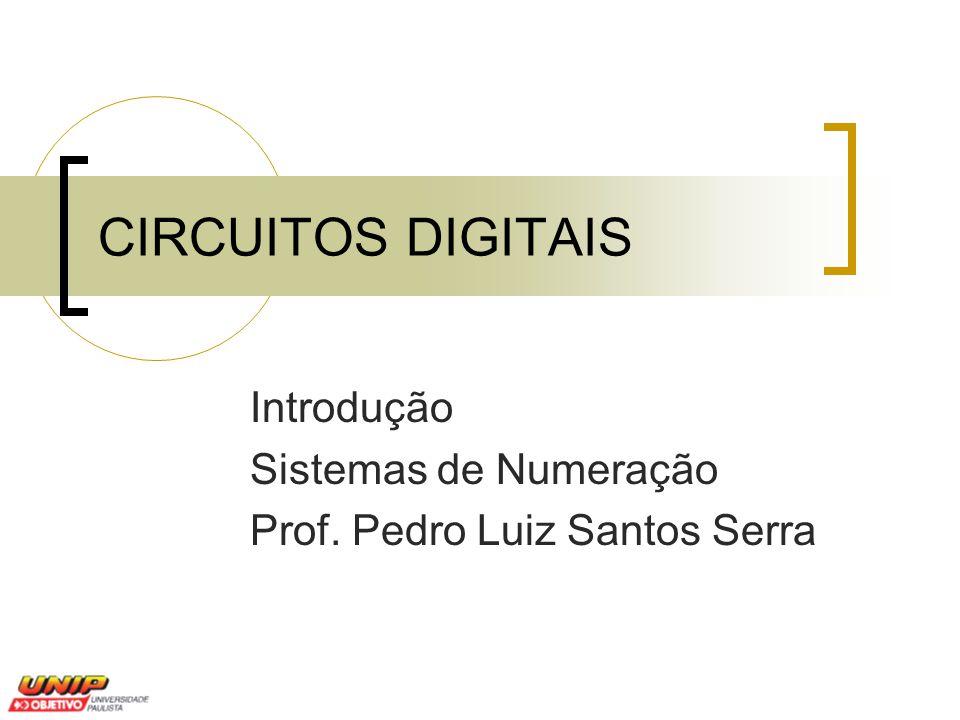 CIRCUITOS DIGITAIS Introdução Sistemas de Numeração Prof. Pedro Luiz Santos Serra