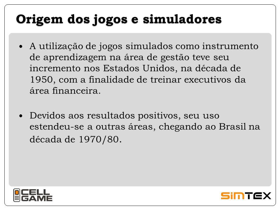 Origem dos jogos e simuladores A utilização de jogos simulados como instrumento de aprendizagem na área de gestão teve seu incremento nos Estados Unid